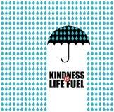 La gentillesse est carburant de la vie illustration stock