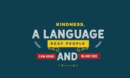 La gentillesse, un peuple sourd de langue peut entendre et des abat-jour voir illustration libre de droits