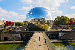 La Geode in the Parc de la Villette, Paris, France Royalty Free Stock Image