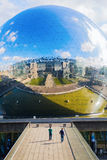 La Geode in the Parc de la Villette, Paris, France Stock Photography