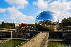 La Geode in the Parc de la Villette in Paris Royalty Free Stock Photo
