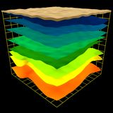 La geología abstracta acoda esquema Fotos de archivo libres de regalías