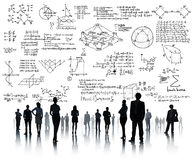 La geometría del símbolo matemático de la ecuación de las matemáticas de la fórmula informa Imagenes de archivo