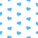 La geometría simple de corazones azules en un modelo inconsútil del fondo blanco - vector Fotografía de archivo libre de regalías