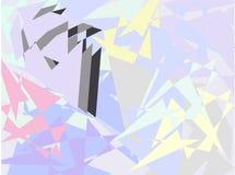 La geometria astratta colorata, illustrazioni di vettore Immagini Stock