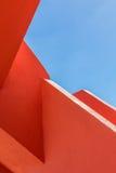 La geometria astratta di piegamento arancio del rugger Fotografia Stock