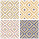 La geometria astratta nei retro colori, modello di geo di forme del diamante royalty illustrazione gratis