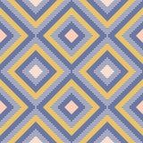 La geometria astratta nei retro colori, modello di geo di forme del diamante fotografie stock