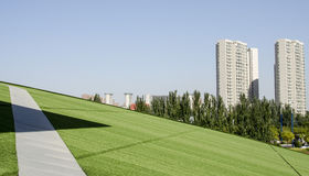 La geometria cinese in città Hoh-calda Fotografie Stock