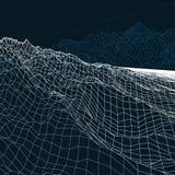 La geometria del paesaggio basso poli Immagini Stock Libere da Diritti