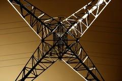 La geometria della linea elettrica, dettagliata Immagine Stock