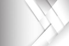 La geometria di base astratta del fondo bianco e grigio si sovrappone illustrazione di stock