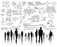 La geometria di simbolo matematico di equazione di matematica di formula informa Immagini Stock