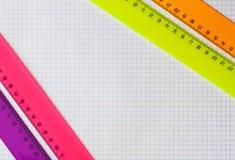 La geometria fissata con i righelli Immagine Stock