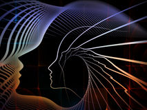 La geometria metaforica di anima Immagine Stock Libera da Diritti