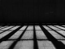 La geometria minimalista in bianco e nero fotografie stock libere da diritti