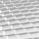 La geometria poligonale grigia astratta 3D Fotografia Stock