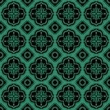 La geometria rotonda del quadrato verde senza cuciture antico del fondo illustrazione vettoriale