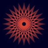 La geometria sacra arrotondata del fondo unico rosso royalty illustrazione gratis