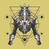 La geometria sacra di anubis vigorosi royalty illustrazione gratis