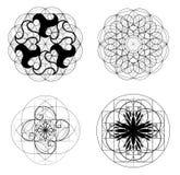 La geometria sacra Sezione dorata Vettore 10 ENV Fotografie Stock