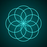 La geometria sacra Simbolo di armonia illustrazione di stock