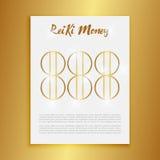 La geometria sacra Simbolo di Reiki La parola si compone di due parole giapponesi, il ` universale del ` di mezzi di Rei - ` di e Fotografia Stock