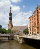 La Germania, Amburgo, chiesa del ` s della st Catherine Fotografia Stock