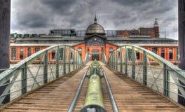 La Germania, Amburgo, pilastro, Fishmarket Corridoio Fotografie Stock Libere da Diritti