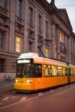 La Germania Berlino, isola di museo, sistema di trasporto pubblico, ferrovia leggera progressiva, fotografia stock