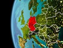La Germania da spazio nella sera Fotografia Stock Libera da Diritti