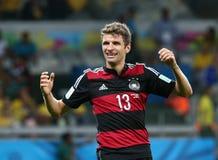 La Germania ed il Brasile team durante i Semi-finali di 2014 coppe del Mondo Immagine Stock Libera da Diritti