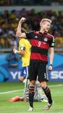 La Germania ed il Brasile team durante i Semi-finali di 2014 coppe del Mondo Immagini Stock