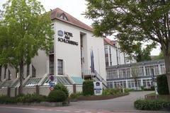 La GERMANIA - 29 maggio 2012: L'hotel l'Schlossberg di Best Western centralmente è situato nella città storica di Hoelderlin di N Immagine Stock Libera da Diritti