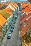 La Germania, Turingia, Muhlhausen, cityview immagini stock