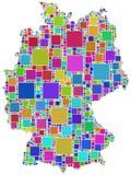 La Germania in un mosaico colorato Immagini Stock Libere da Diritti