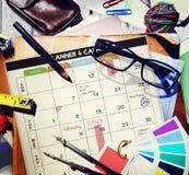 La gestión de la organización del planificador del calendario recuerda concepto Imágenes de archivo libres de regalías