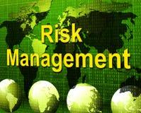 La gestión de riesgos significa al encargado And Administration de la autoridad ilustración del vector