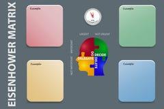 La gestión de tiempo ejercita vector foto de archivo libre de regalías