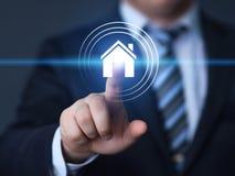 La gestione Real Estate della proprietà ipoteca il concetto dell'affare di affitto fotografia stock
