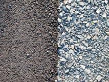 La ghiaia del cemento oscilla le strutture immagini stock