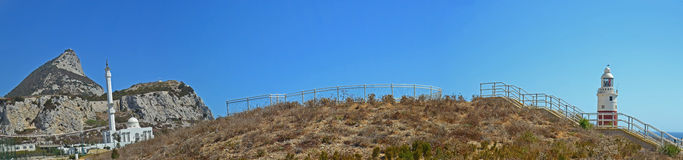La Gibilterra, panorama del punto del Europa Immagine Stock Libera da Diritti
