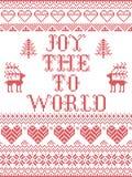 La gioia del modello di Natale al modello senza cuciture del mondo ha ispirato entro l'inverno festivo della cultura nordica in p royalty illustrazione gratis
