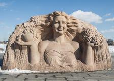 La statua della dea del raccolto Fotografia Stock