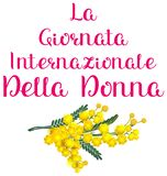 La Giornata internazionale della donna italia holiday yellow acacia mimosa. Womens day text translation from Italian. Isolated on white vector illustration vector illustration