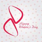 La Giornata internazionale della donna l'8 marzo, cartolina d'auguri o fondo del giorno delle donne felici Fotografia Stock Libera da Diritti
