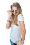 La giovane bella ragazza Immagini Stock Libere da Diritti