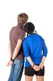La giovane coppia esamina il bianco. La retrovisione Fotografie Stock Libere da Diritti