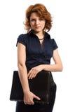 La giovane donna con i documenti Immagine Stock