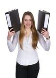 La giovane donna continua due archivi Immagine Stock